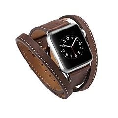 お買い得  メンズ腕時計-カーフヘアー 時計バンド ストラップ のために Apple Watch Series 3 / 2 / 1 ブラック / ブルー / レッド 23センチメートル / 9インチ 2.1cm / 0.83 Inch