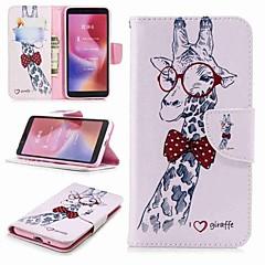 Недорогие Чехлы и кейсы для Xiaomi-Кейс для Назначение Xiaomi Redmi Note 5 Pro / Redmi 6 Кошелек / Бумажник для карт / со стендом Чехол Животное Твердый Кожа PU для Xiaomi Redmi Note 5 Pro / Redmi 6A / Redmi 6