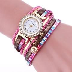お買い得  レディース腕時計-女性用 スポーツウォッチ ネックレスウォッチ クォーツ カジュアルウォッチ 愛らしいです PU バンド ハンズ カジュアル ファッション ブラック / 白 / ブルー - Brown グリーン ブルー