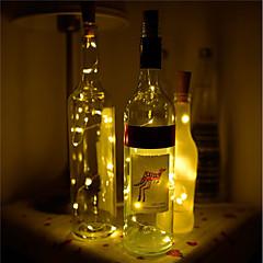 preiswerte Ausgefallene LED-Beleuchtung-BRELONG® 1pc Weinflaschenverschluss LED-Nachtlicht Warmes Weiß / Weiß / Rot Knopf Batteriebetrieben Kreativ / Hochzeit / Dekoration <5 V