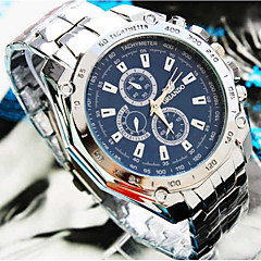 cheap Couple Watches-Men's Couple's Sport Watch Wrist Watch Quartz Silver / Gold 30 m Casual Watch Large Dial Analog Casual Fashion - White / Blue Gold / White Black / Silver