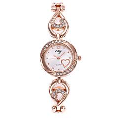preiswerte Damenuhren-Damen Armband-Uhr Armbanduhr Quartz Gold Armbanduhren für den Alltag Analog damas Heart Shape Modisch - Gold