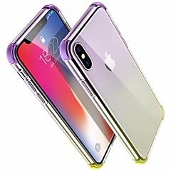 Недорогие Кейсы для iPhone 7 Plus-Кейс для Назначение Apple iPhone X / iPhone 8 Защита от удара Кейс на заднюю панель Градиент цвета Твердый Акрил для iPhone X / iPhone 8 Pluss / iPhone 8