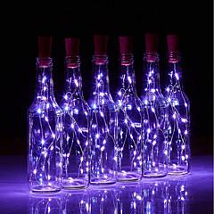 preiswerte Ausgefallene LED-Beleuchtung-BRELONG® 10 Stück Weinflaschenverschluss LED-Nachtlicht Warmes Weiß / Weiß / Rot Knopf Batteriebetrieben Kreativ / Hochzeit / Dekoration <5 V