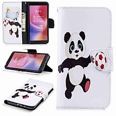 Недорогие Чехлы и кейсы для Xiaomi-Кейс для Назначение Xiaomi Redmi Note 5 Pro / Redmi 6 Кошелек / Бумажник для карт / со стендом Чехол Панда Твердый Кожа PU для Redmi Note 5A / Xiaomi Redmi Note 5 Pro / Xiaomi Redmi Note 4X