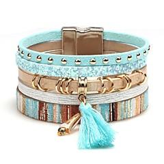 preiswerte Armbänder-Damen Quaste Stilvoll Lederarmbänder Breites Armband - Leder Kreativ Quaste, Modisch Armbänder Braun / Blau / Rosa Für Karnival Geburtstag