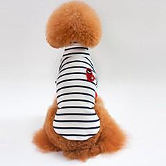お買い得  犬用ウェア&アクセサリー-犬用 / 猫用 Tシャツ 犬用ウェア ストライプ ホワイト / ブルー コットン コスチューム ペット用 男女兼用 シンプルなスタイル / カジュアル / スポーティ