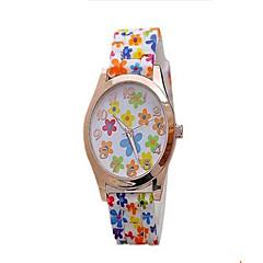 preiswerte Armbanduhren für Paare-Damen Paar Sportuhr Quartz Niedlich Armbanduhren für den Alltag Leder Band Analog Analog-Digital Freizeit Zeichentrick Schwarz / Weiß / Blau - Blau Rosa Leicht Grün