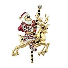 お買い得  ブローチ-女性用 クラシック ブローチ  -  サンタスーツ スタイリッシュ, クラシック ブローチ ゴールド 用途 クリスマス