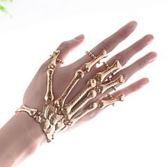 preiswerte Armbänder-Damen Vintage Stil Ring-Armbänder - Totenkopf Erklärung, damas, Hyperbel Armbänder Schmuck Gold Für Halloween