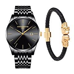 Недорогие Мужские часы-Муж. Нарядные часы Японский Кварцевый Нержавеющая  сталь Черный   Серебристый металл 022c713ad7f