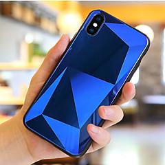 Недорогие Кейсы для iPhone X-Кейс для Назначение Apple iPhone X / iPhone 8 Защита от удара / Зеркальная поверхность Кейс на заднюю панель Геометрический рисунок Твердый Закаленное стекло для iPhone X / iPhone 8 Pluss / iPhone 8
