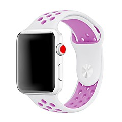 お買い得  腕時計ベルト-シリカゲル 時計バンド ストラップ のために Apple Watch Series 3 / 2 / 1 ブラック 23センチメートル / 9インチ 2.1cm / 0.83 Inch