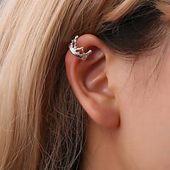 preiswerte Ohrringe-Damen Klips Ohr-Stulpen - Krone Einfach, Koreanisch, nette Art Gold / Schwarz / Silber Für Geschenk Alltag Strasse