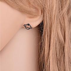 preiswerte Ohrringe-Damen Stilvoll Nicht übereinstimmend Ohrstecker - Stern Einfach, nette Art Schwarz Für Geschenk Verabredung
