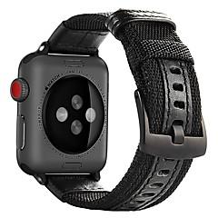お買い得  腕時計ベルト-ナイロン 時計バンド ストラップ のために Apple Watch Series 3 / 2 / 1 ブラック / レッド / グリーン 23センチメートル / 9インチ 2.1cm / 0.83 Inch