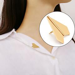 abordables Broches-Mujer Elegante Broche - Avión Simple, Coreano, Estilo lindo Broche Dorado / Plata Para Regalo / Diario / Trabajo