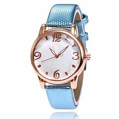 preiswerte Damenuhren-Damen Kleideruhr Armbanduhr Quartz Neues Design Armbanduhren für den Alltag PU Band Analog Modisch Elegant Schwarz / Weiß / Blau - Rot Blau Rosa Ein Jahr Batterielebensdauer