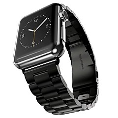 abordables Accesorios para Reloj-Acero Inoxidable Ver Banda Correa para Apple Watch Series 3 / 2 / 1 Negro / Plata / Dorado 23cm / 9 pulgadas 2.1cm / 0.83 Pulgadas