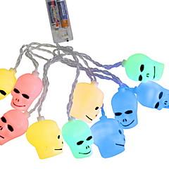 preiswerte LED Lichtstreifen-1.2 Leuchtgirlanden 10 LEDs Warmes Weiß / Weiß / Mehrfarbig Dekorativ / Cool / Komisch AA-Batterien angetrieben