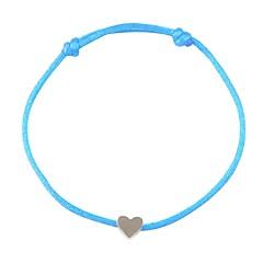 preiswerte Armbänder-Damen Klassisch Geflochten loom-Armband - Herz Romantisch, Modisch Armbänder Blau / Rosa / Hellblau Für Ausgehen Valentinstag