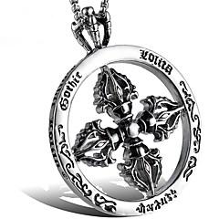 Недорогие Ожерелья-Муж. Старинный Ожерелья с подвесками - Титановая сталь Креатив Этнический Cool Серебряный 60 cm Ожерелье Бижутерия 1 комплект Назначение Вечеринка / ужин, Повседневные