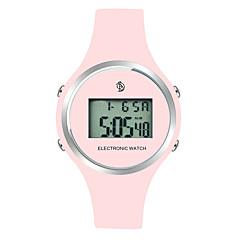preiswerte Damenuhren-Damen damas Armbanduhr digital Kalender LCD Tachymeter Silikon Band digital Modisch Mehrfarbig Schwarz / Rot / Rosa - Schwarz Rot Rosa Zwei jahr Batterielebensdauer