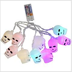 お買い得  LED ストリングライト-2.5m ストリングライト 10 LED 温白色 装飾用 単3乾電池 1セット