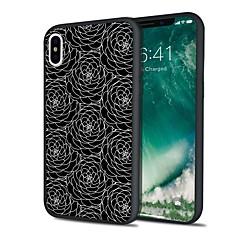 Недорогие Кейсы для iPhone 5-Кейс для Назначение Apple iPhone X / iPhone 8 Plus Матовое Кейс на заднюю панель Кружева Печать Твердый ТПУ для iPhone X / iPhone 8 Pluss / iPhone 8