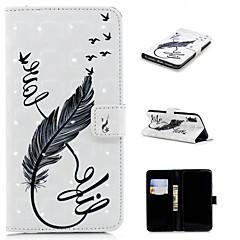 Недорогие Кейсы для iPhone 6 Plus-Кейс для Назначение Apple iPhone XS / iPhone XS Max Кошелек / Бумажник для карт / со стендом Чехол Перья Твердый Кожа PU для iPhone XS / iPhone XR / iPhone XS Max