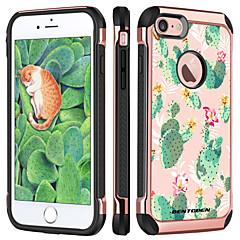 Недорогие Кейсы для iPhone 7-BENTOBEN Кейс для Назначение Apple iPhone 8 / iPhone 7 Защита от удара / Покрытие / С узором Кейс на заднюю панель Растения / Цветы Твердый ТПУ / ПК для iPhone 8 / iPhone 7