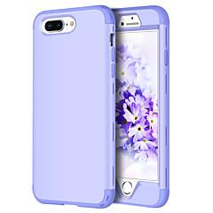 Недорогие Кейсы для iPhone 7 Plus-BENTOBEN Кейс для Назначение Apple iPhone 8 / iPhone 8 Plus Защита от удара Чехол Однотонный Твердый Силикон / ПК для iPhone 8 Pluss / iPhone 8 / iPhone 7 Plus