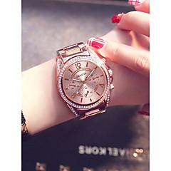 preiswerte Damenuhren-Damen Armbanduhr Quartz Silber / Gold / Rotgold 30 m Kreativ Armbanduhren für den Alltag Analog damas Modisch Elegant - Gold Silber Rotgold