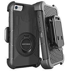 Недорогие Кейсы для iPhone-BENTOBEN Кейс для Назначение Apple iPhone 8 / iPhone 7 Защита от удара / Кольца-держатели / Матовое Чехол Однотонный Твердый Силикон / ПК для iPhone 8 / iPhone 7 / iPhone 6s