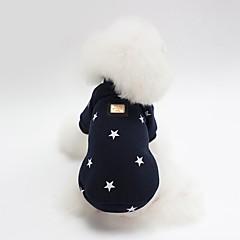 お買い得  犬用ウェア&アクセサリー-犬用 スウェットシャツ 犬用ウェア キャラクター / Stars ダークブルー / ピンク コットン コスチューム ペット用 男女兼用 スウィート / ウォームアップ