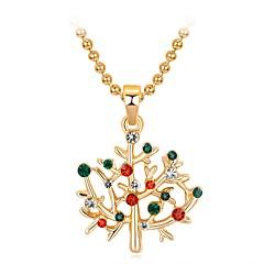 preiswerte Halsketten-Damen 3D Anhängerketten - Strass Schneeflocke Klassisch, Süß, Modisch Niedlich, lieblich Regenbogen 47 cm Modische Halsketten Schmuck 1pc Für Weihnachten, Neujahr