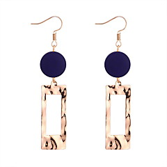 preiswerte Ohrringe-Damen Geometrisch Tropfen-Ohrringe - Einfach, Geometrisch, Europäisch Purpur / Gelb / Rot Für Normal Alltag