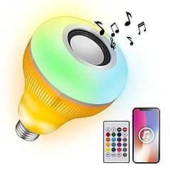 preiswerte LED-Birnen-YWXLIGHT® 1pc 12 W 1050-1150 lm B22 / E26 / E27 Smart LED Glühlampen 48 LED-Perlen SMD Abblendbar / Geräusch aktiviert / Ferngesteuert RGB 85-265 V