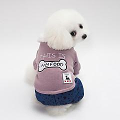 お買い得  犬用ウェア&アクセサリー-犬用 セーター 犬用ウェア ブリティッシュ / ボーン / Stars ピンク / ダークグリーン コットン コスチューム ペット用 男女兼用 保温 / 編みひも/ひも
