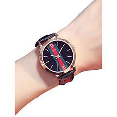 お買い得  レディース腕時計-女性用 リストウォッチ クォーツ 30 m クリエイティブ 新デザイン PU バンド ハンズ ヴィンテージ ファッション ブラック / 白 / レッド - ブラック グレー レッド