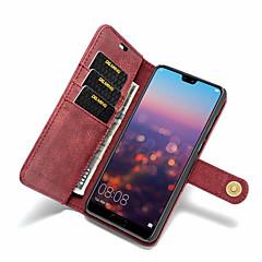 お買い得  Huawei Pシリーズケース/ カバー-ケース 用途 Huawei P20 Pro / P20 lite カードホルダー / 耐衝撃 / フリップ フルボディーケース ソリッド ハード PUレザー のために Huawei P20 / Huawei P20 Pro / Huawei P20 lite