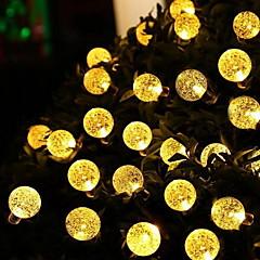preiswerte LED Lichtstreifen-5m Leuchtgirlanden 30 LEDs Warmes Weiß Solar / Dekorativ Solarbetrieben 1 set