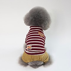 お買い得  犬用ウェア&アクセサリー-犬用 コート 犬用ウェア 縞柄 / キャラクター / ブリティッシュ レッド / グリーン コットン コスチューム ペット用 男女兼用 スウィート / カジュアル/普段着