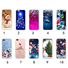 Недорогие Кейсы для iPhone 7 Plus-Кейс для Назначение Apple iPhone XR / iPhone XS Max Ультратонкий / Прозрачный / С узором Кейс на заднюю панель Рождество Мягкий ТПУ для iPhone XS / iPhone XR / iPhone XS Max