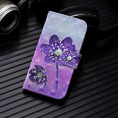 Недорогие Кейсы для iPhone 6 Plus-Кейс для Назначение Apple iPhone XS / iPhone XS Max Кошелек / Бумажник для карт / со стендом Чехол Цветы Твердый Кожа PU для iPhone XS / iPhone XR / iPhone XS Max