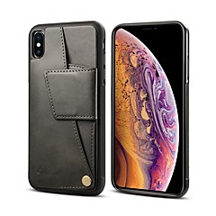 abordables Fundas para iPhone 6s Plus-Funda Para Apple iPhone XR / iPhone XS Max Cartera / Soporte de Coche / Antigolpes Funda Trasera Un Color Dura Cuero de PU para iPhone XR / iPhone XS Max / iPhone 8 Plus