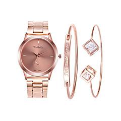 preiswerte Damenuhren-Damen Armbanduhr Quartz 30 m Kreativ Armbanduhren für den Alltag Legierung Band Analog Freizeit Modisch Rotgold - Rotgold Rotgold / Silber Rotgold / Weiß
