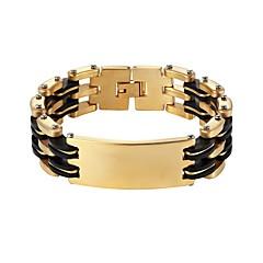 preiswerte Armbänder-Herrn Dicke Kette Ketten- & Glieder-Armbänder - Edelstahl Modisch Armbänder Gold / Silber Für Geschenk Alltag