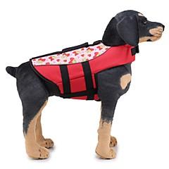 abordables Accesorios y Ropa para Perros-Perros Chaleco salvavidas Ropa para Perro Un Color / Clásico Naranja / Verde Tejido Disfraz Para mascotas Unisex Diseño Único / Ocasional / deportivo