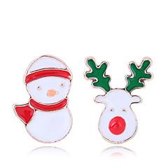 preiswerte Ohrringe-Damen Nicht übereinstimmend Ohrstecker - Elk Europäisch, Modisch, nette Art Gold Für Weihnachten Alltag